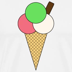 Ice Cream Cone - Men's Premium T-Shirt
