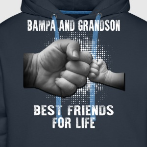 Bampa And Grandson Best Friends For Life T-Shirts - Men's Premium Hoodie