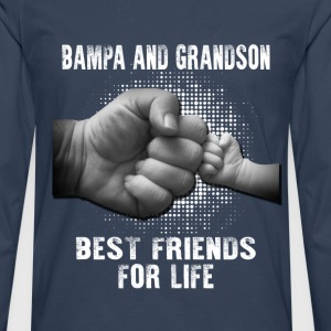 Bampa And Grandson Best Friends For Life T-Shirts - Men's Premium Longsleeve Shirt