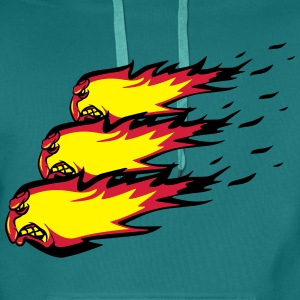 Fire flame fireball formation agro T-Shirts - Men's Premium Hoodie