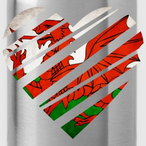 Wales Heart T-Shirts - Water Bottle