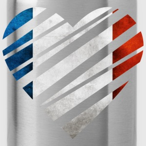 France Heart Camisetas - Cantimplora