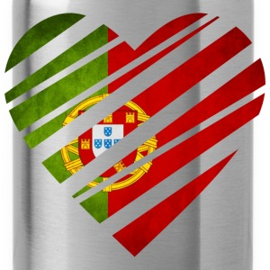 Portugal Heart T-Shirts - Trinkflasche