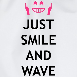Just smile and wave Sudaderas - Mochila saco