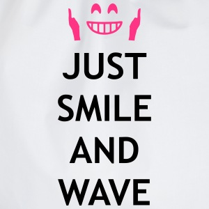 Just smile and wave T-shirts - Gymnastikpåse