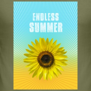 sunflower endless summer Sonnenblume Sommer - Männer Slim Fit T-Shirt
