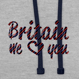 Britain T-Shirts - Contrast Colour Hoodie