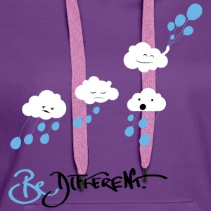 Purple Be Different Shirts - Women's Premium Hoodie