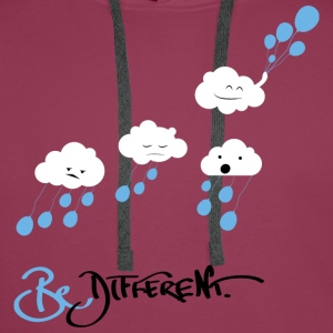 Dark pink Be Different Tops - Men's Premium Hoodie
