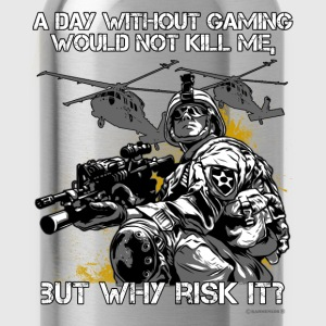 A day without Gaming Rahm Langarmshirts - Trinkflasche