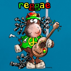 Reggae Horse T-Shirts - Contrast Colour Hoodie