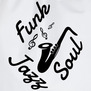 Jazz - Music - Blues - Funk - Jazzman - Groove T-shirts - Gymtas