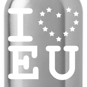 i love EU European Union Brexit T-Shirts - Water Bottle