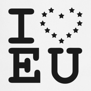 i love EU European Union Brexit T-Shirts - Cooking Apron