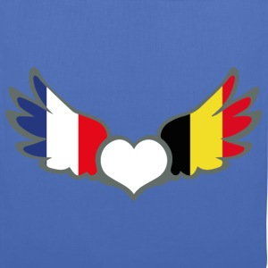 Bi-nationalité Drapeaux France Belgique Tee shirts - Tote Bag