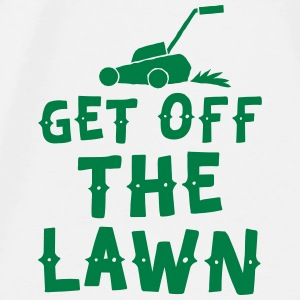 get off the lawn with lawn mower Baby Bibs - Men's Premium T-Shirt