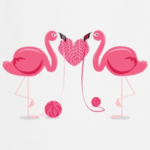 Flamingos Knit A Heart Shape T-Shirts - Cooking Apron