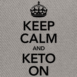 Keep Calm And Keto On T-skjorter - Snapback-caps