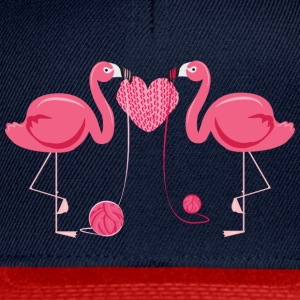 Flamingos Knit A Heart Shape Tee shirts - Casquette snapback