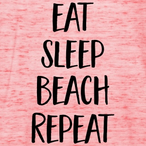 Eat, Sleep, Beach, Repeat T-shirts - Vrouwen tank top van Bella
