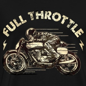 SSD Full Throttle retro racer - RAHMENLOS Biker Design classic color Pullover & Hoodies - Männer Premium T-Shirt