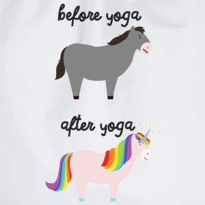 Before Yoga - After Yoga Magliette - Sacca sportiva