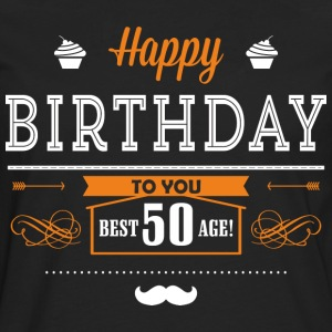 BD - Best age 50 - happy birthday to you retro ice orange design - RAHMENLOS Geburtstag Geschenk T-Shirts - Männer Premium Langarmshirt