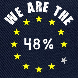 We are the 48% Hoodie - front & back - Snapback Cap