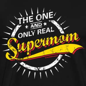 The one and only real Supermom RAHMENLOS® Langarmshirts - Männer Premium T-Shirt