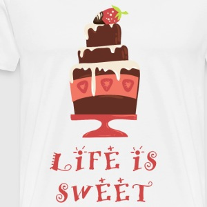 life_is_sweet_as_a_cake_06201607 Schürzen - Männer Premium T-Shirt
