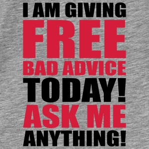 free bad advice Gensere - Premium T-skjorte for menn
