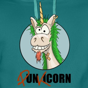 Unicorn Punkicorn T-Shirts - Men's Premium Hoodie