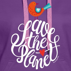 Violet save the planet Sacs et sacs à dos - Sweat-shirt à capuche Premium pour femmes