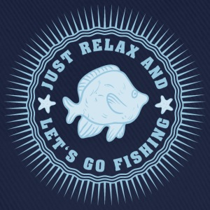 relax_and_lets_go_fishing_06201607 T-Shirts - Baseballkappe