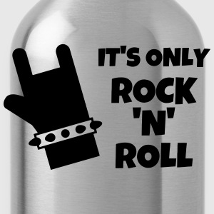 Rock - Music - Metal - Punk - Rocker - Alcohol T-Shirts - Water Bottle