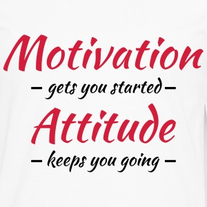Motivation gets you started Tee shirts - T-shirt manches longues Premium Homme