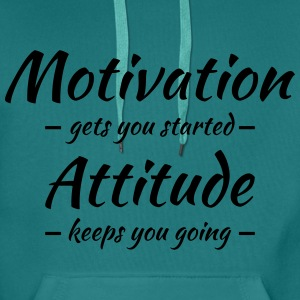 Motivation gets you started Tee shirts - Sweat-shirt à capuche Premium pour hommes