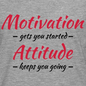 Motivation gets you started T-shirts - Långärmad premium-T-shirt herr