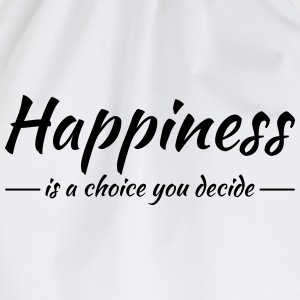 Happiness is a choice you decide Manches longues - Sac de sport léger