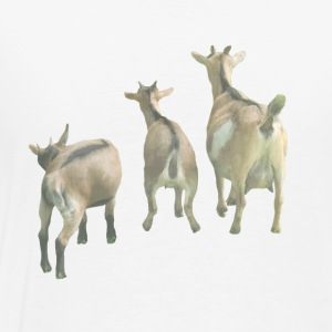 three goats from behind - Men's Premium T-Shirt