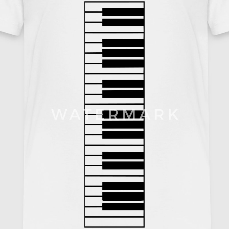 klaviertasten, piano, klavier, keyboard T-Shirts - Teenager Premium T-Shirt