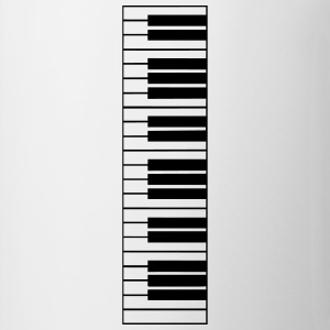 piano, piano keyboard Manga larga - Taza