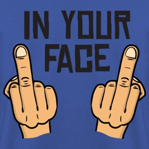 in your face / middlefingers / fuck you T-shirts - Herrtröja