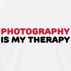 Photography is my therapy Vêtements Sport - T-shirt Premium Homme