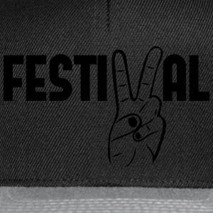 Festival peace music concerts party Tops - Snapback Cap