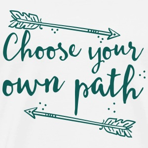 choose your own path with arrow Tops - Men's Premium T-Shirt