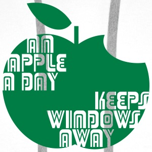 An Apple a day keeps Windows Away Sportbekleidung - Männer Premium Hoodie