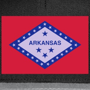 Flag Arkansas Tops - Snapback Cap