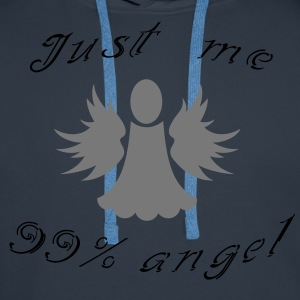 99% angel Tee shirts - Sweat-shirt à capuche Premium pour hommes