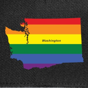 washington rainbow flag T-Shirts - Snapback Cap